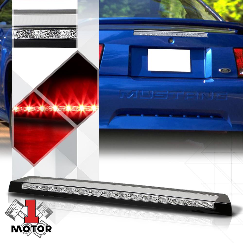 Brake Light for 05-09 Ford Mustang 3rd Chrome Housing Smoke Lens Rear LED Third