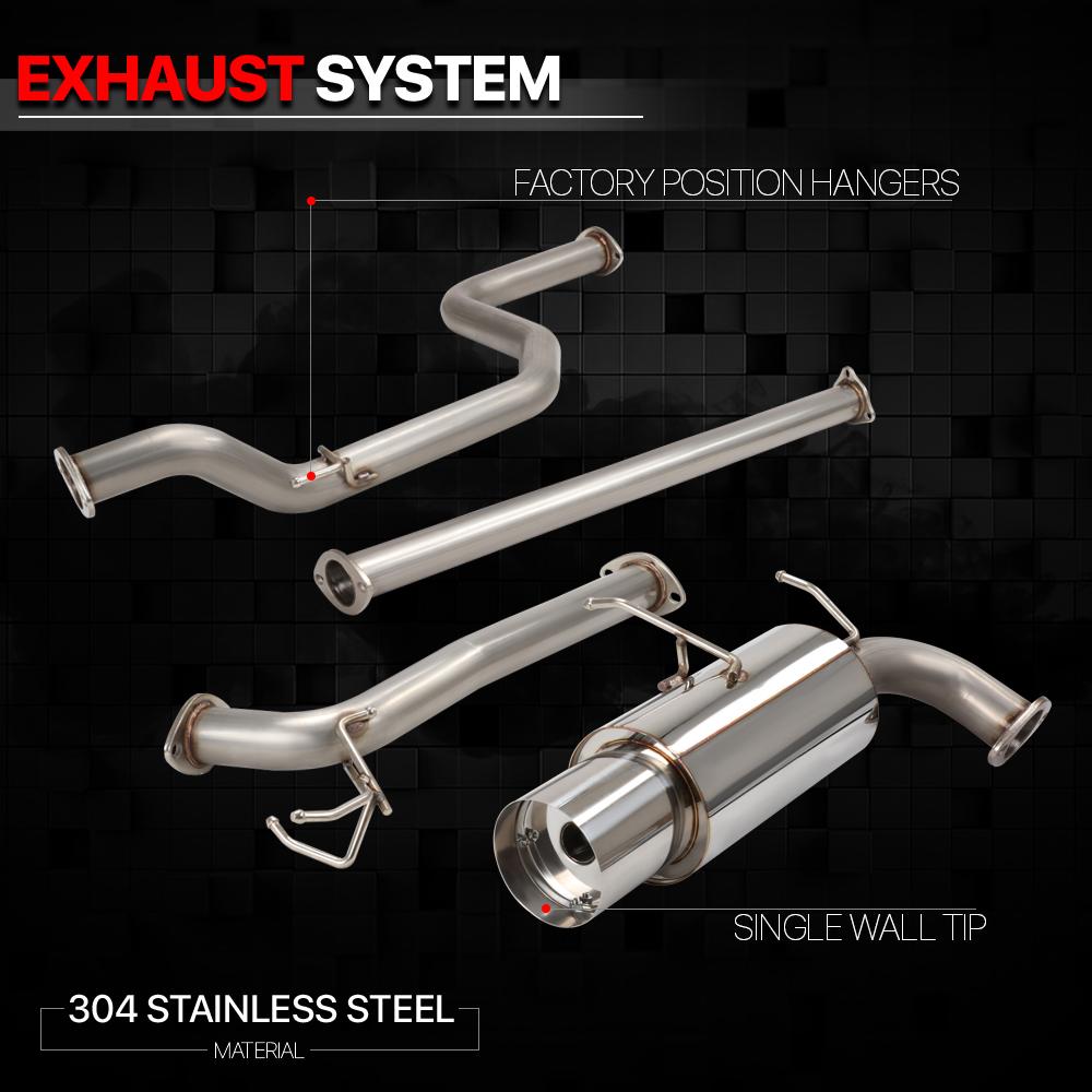 DA DB Burnt Muffler Tip For Acura Integra Stainless Steel Catback Exhaust System 4.5 inches Muffler