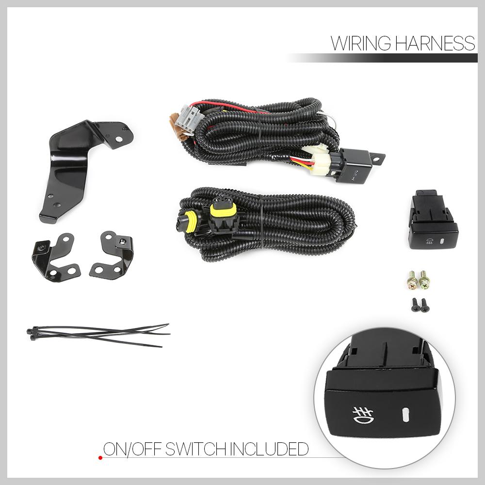Smoke Fog Light Bumper Lamps W  Switch Harness Bezel For 06