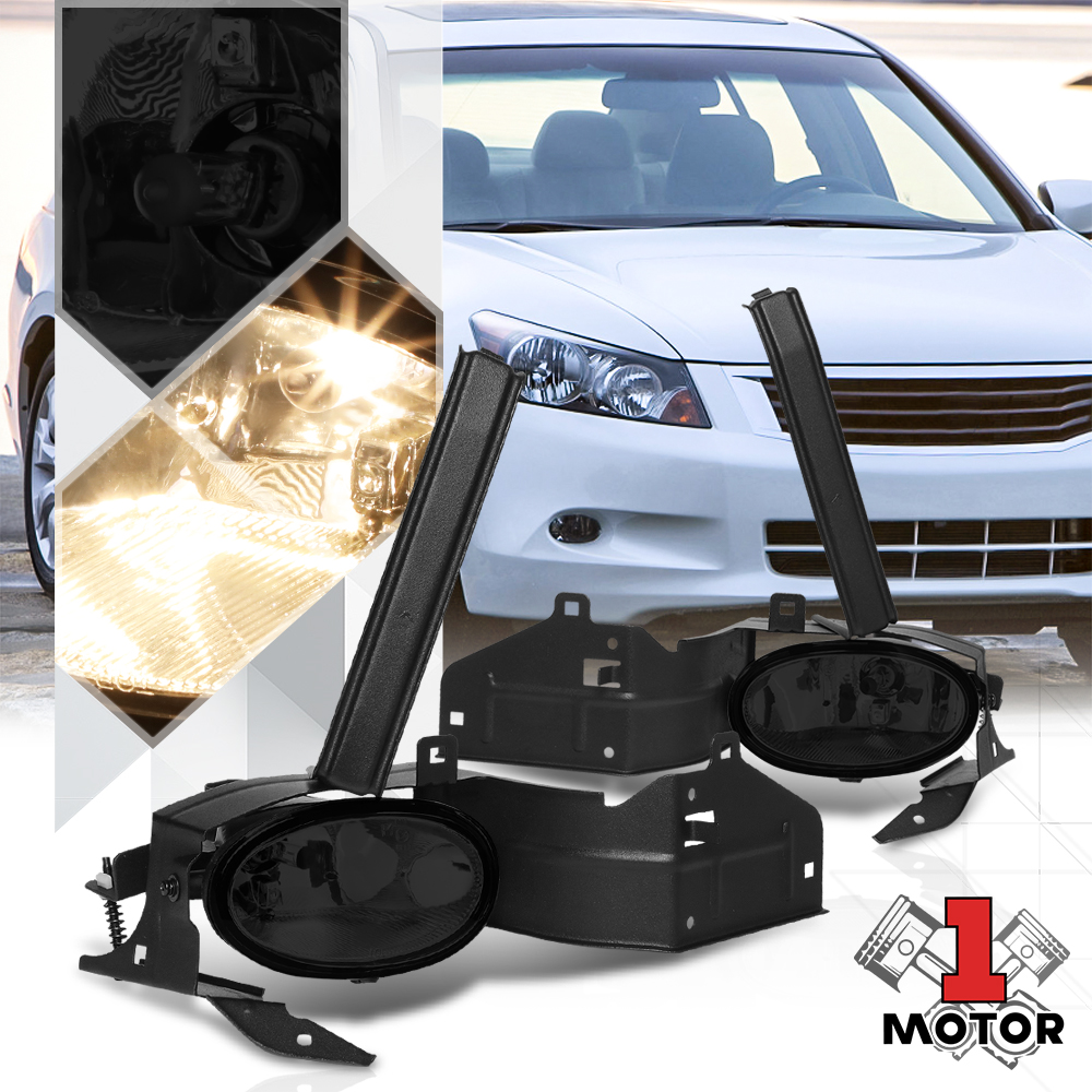 Smoke Tinted Fog Light Bumper Lamp W  Switch Harness For 08