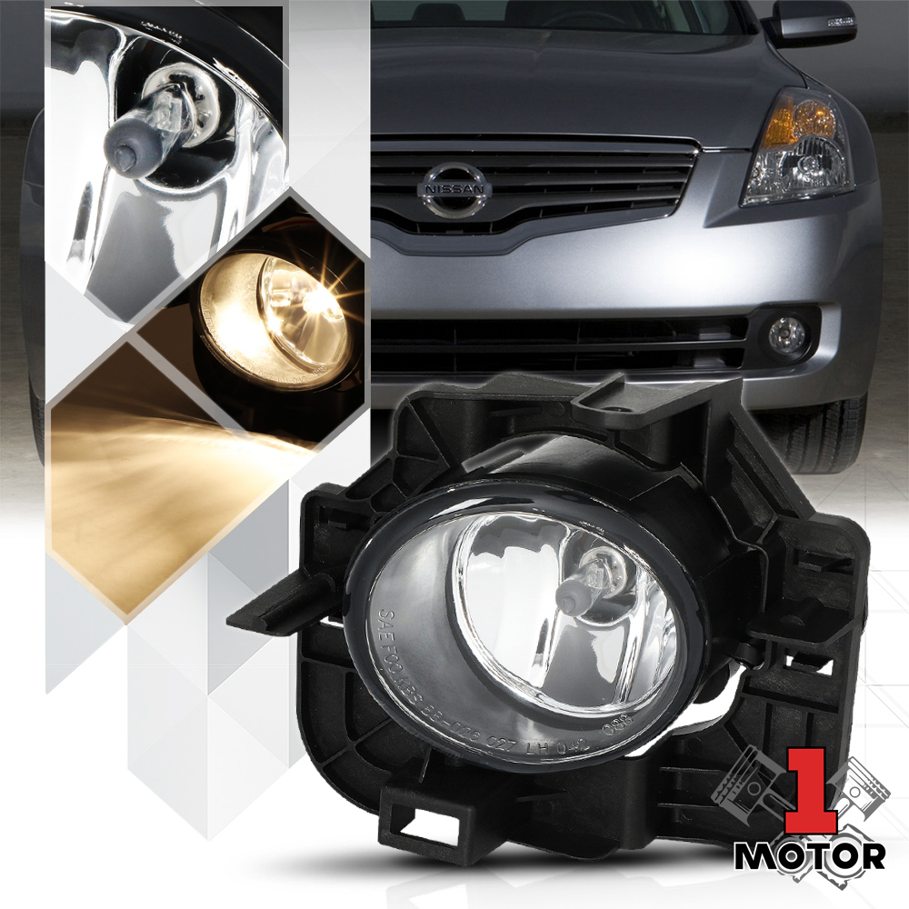 SMOKED TINT OE FOG LIGHTS//LAMPS PAIR+SWITCH FOR 07-09 NISSAN ALTIMA SEDAN L32A