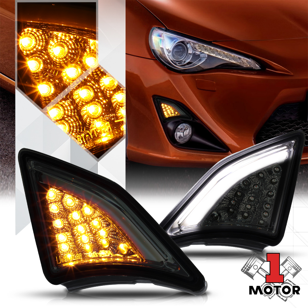 Chrome Smoke Quot Full Led Quot Front Turn Signal Drl Running
