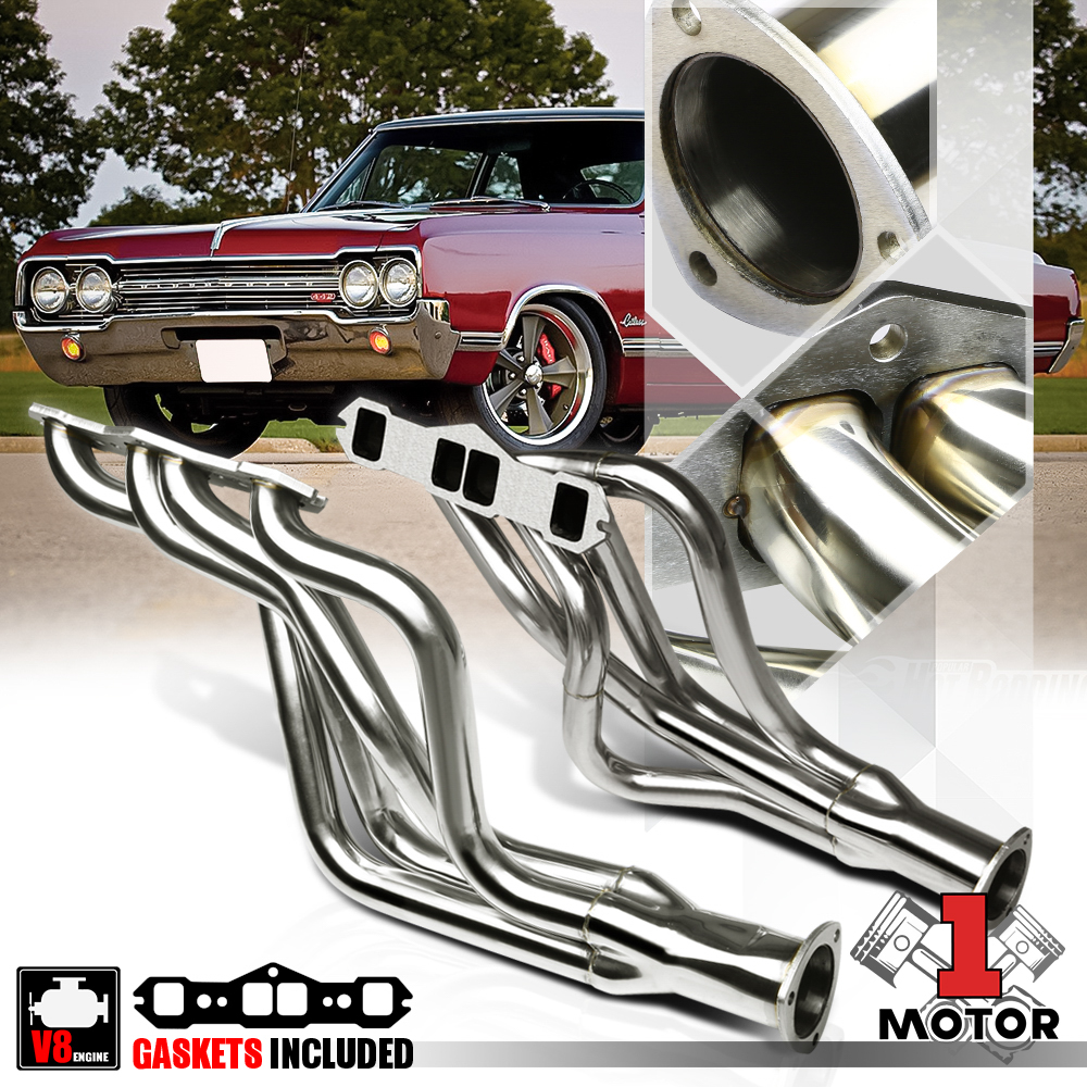 STAINLESS STEEL RACING HEADER MANIFOLD EXHAUST 65-74 OLD 442//CUTLASS//DELTA 88