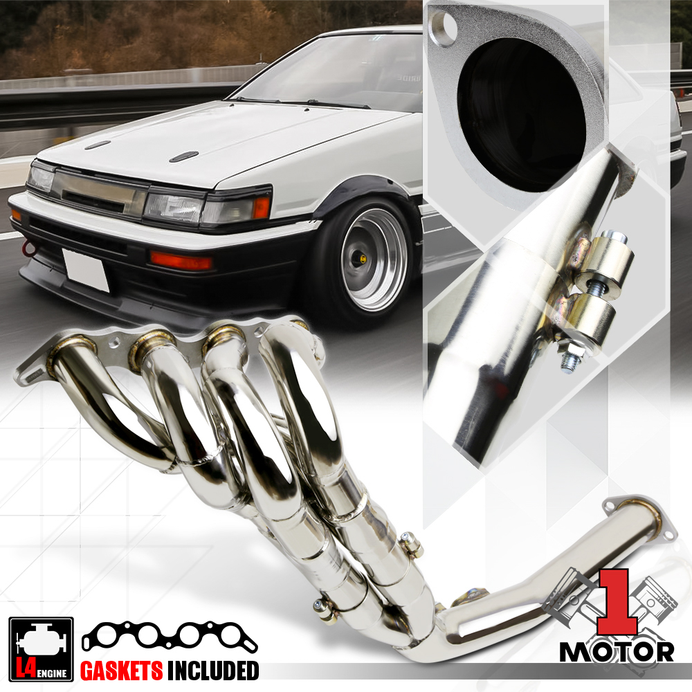 FOR 85-87 COROLLA AE86 1.6 T304 STAINLESS STEEL TRI-Y HEADER EXHAUST MANIFOLD