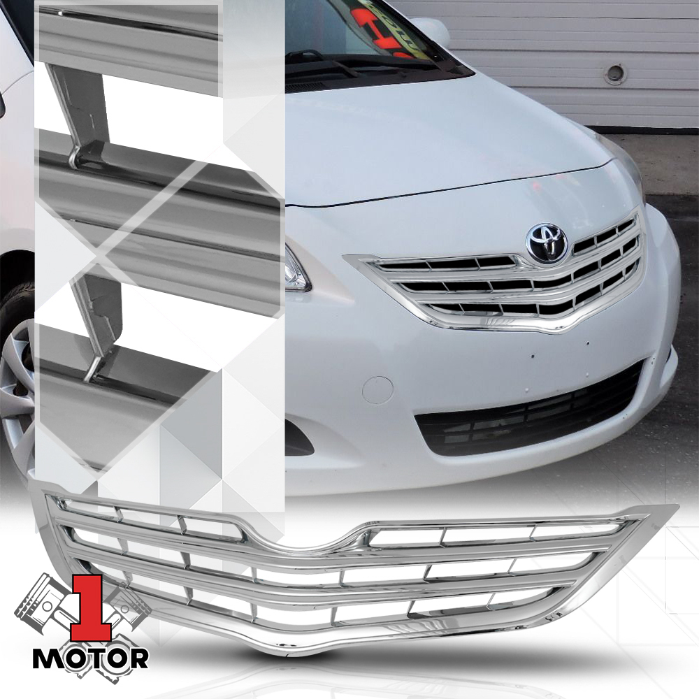 Fits 2006-2012 Toyota Yaris Sedan Chrome Front Bumper Honeycomb Grll//Grille Mesh