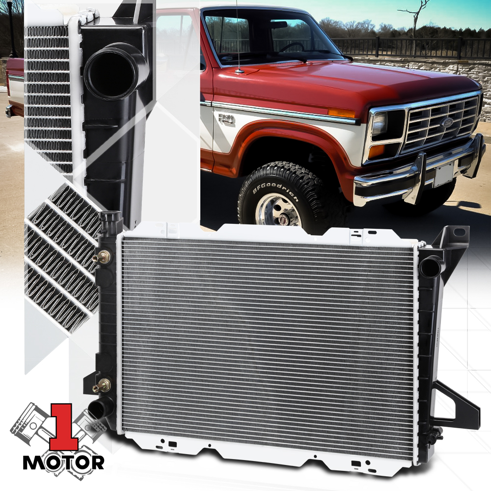 Radiator Assembly Plastic Tank Aluminum Core for Ford Bronco F150 F250 Brand New