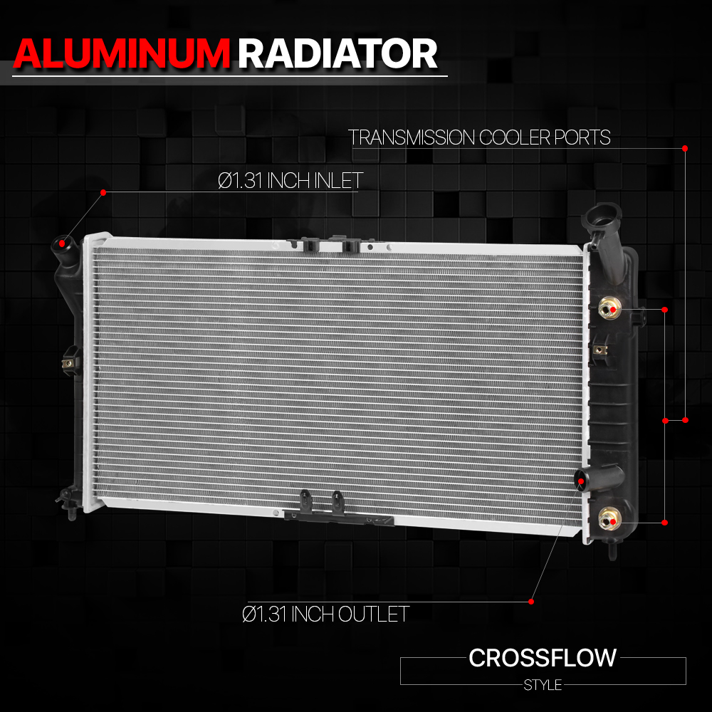 Aluminum Radiator OE Replacement for 94-97 Cutlass//Regal//Chevy Lumina dpi-1518