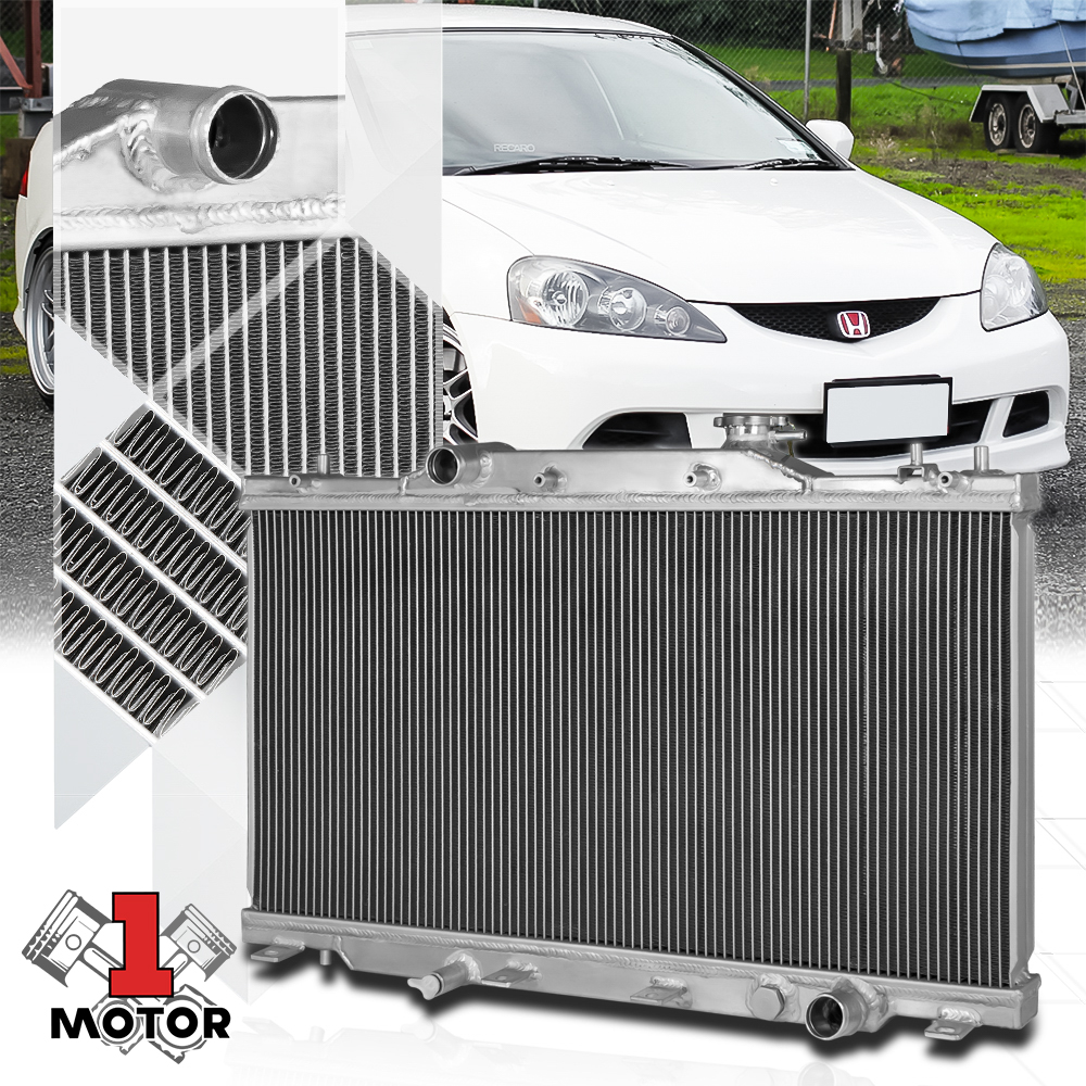 Aluminum 2 Row Core Performance Cooling Radiator For 02-06