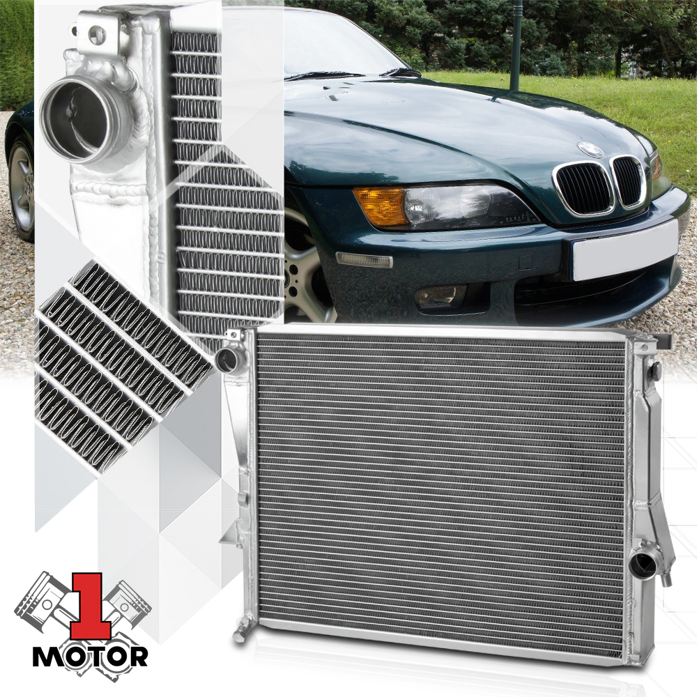 98-02 BMW Z3 M Coupe Roaster L6 3.2L Aluminum 3 Row Core Cooling Racing Radiator