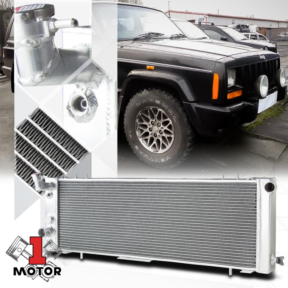 fit 91-01 Jeep Cherokee XJ,Comanche 2.5 4.0 Full Aluminum Radiator AT//MT