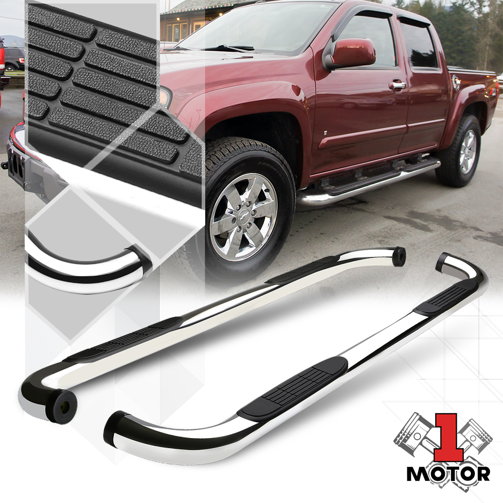 """Fit 04-12 Colorado//Canyon Ext Cab 4Dr Black 3/"""" Side Step Nerf Bar Running Board"""