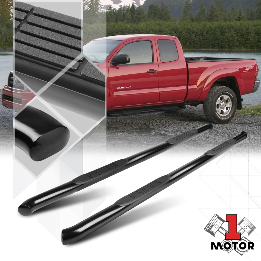 for 05-18 Toyota Tacoma Double Cab 3/'/' Side Steps Running Board Nerf Bars Guards