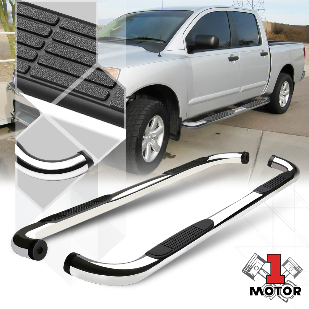 """Chrome 3/"""" Side Step Nerf Bar Running Board for 04-15 Nissan Titan Extended Cab"""