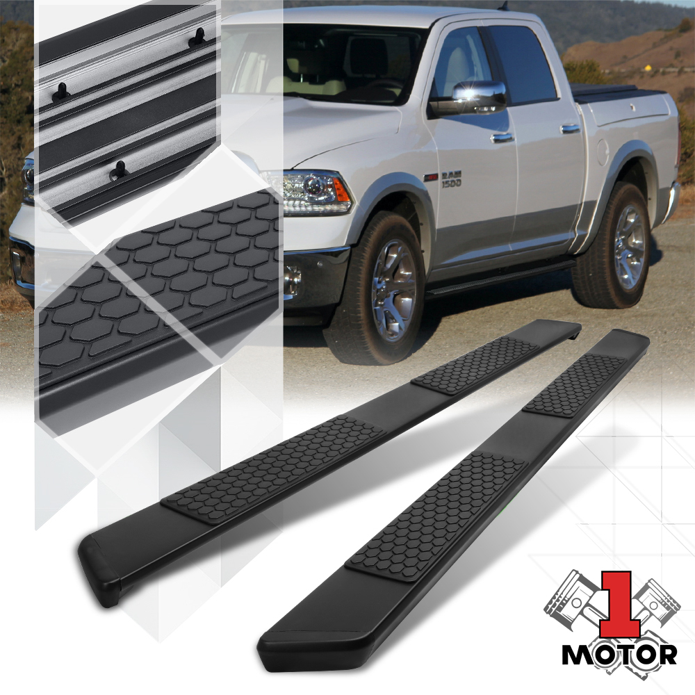 Chrome For Dodge Ram 1500//2500//3500 Crew Cab 6 inches Side Step Nerf Bar Running Board