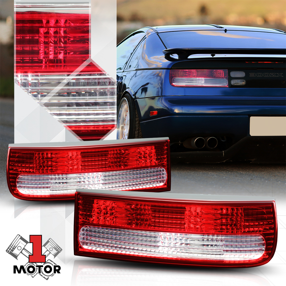 Image Is Loading Chrome Housing Red Clear Tail Light Brake Lamp