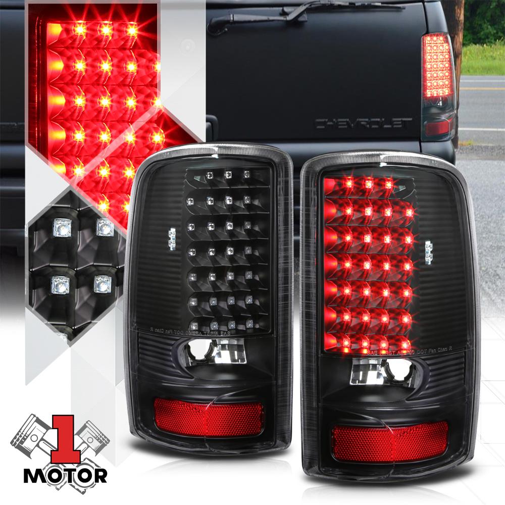3rd Brake Light for 00-06 GMC Suburban//Tahoe//Yukon Black Clear Rear LED Third