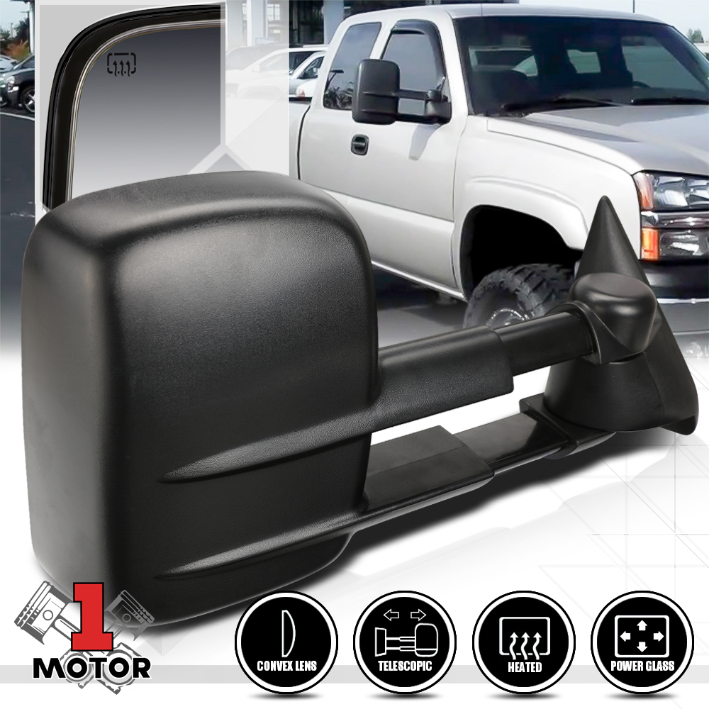 Right Passenger Side Manual Extendable Towing Mirror for 99-07 Silverado//Sierra