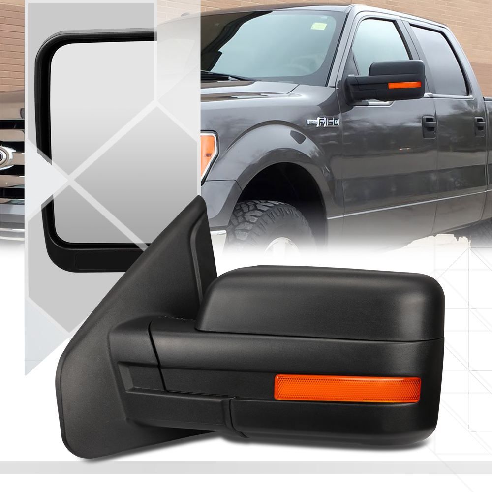 Details About Left Driver Side Manual Adjust Foldable Replacement Mirror For 04 14 Ford F150